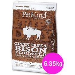 画像1: ペットカインド (Pet Kind) トライプドライ グリーントライプ&バイソン 6.35kg 【全年齢対応】【高品質ドライフード】 【送料無料】